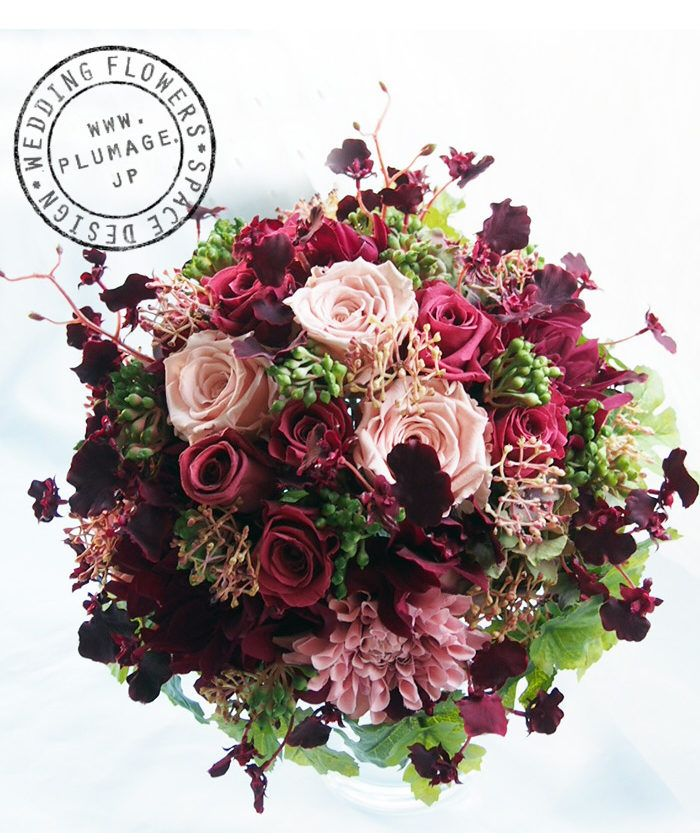 Red and pink bouquet (Rose and dahlia)