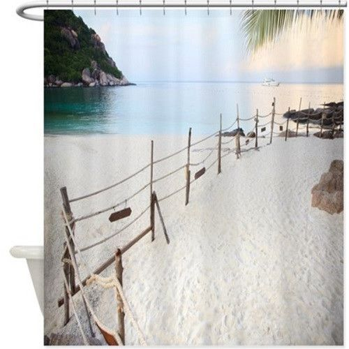 Beach Fence Shower Curtain 118