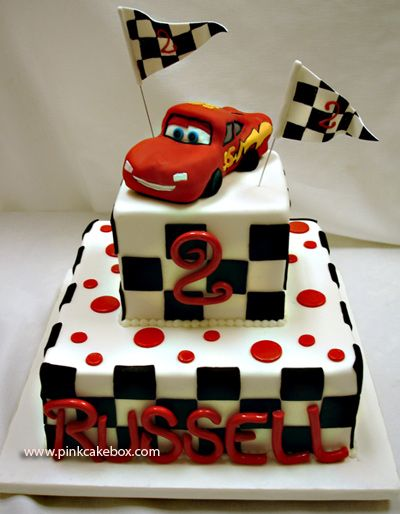 Children S Race Car Themed Cake By Pink Cake Box Wedding Cakes