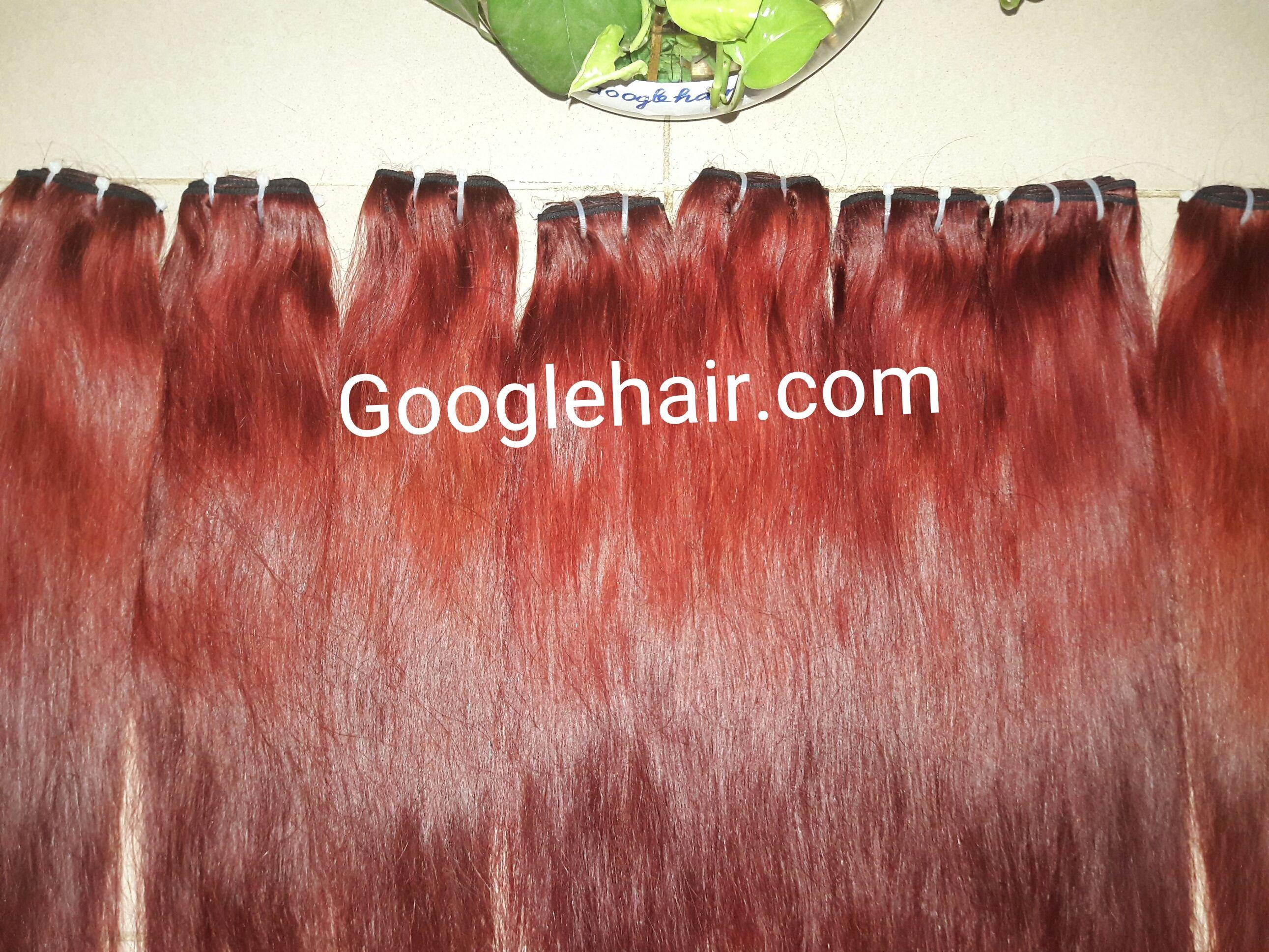 RED HAIR-100% REAL hair high quality-Googlehair