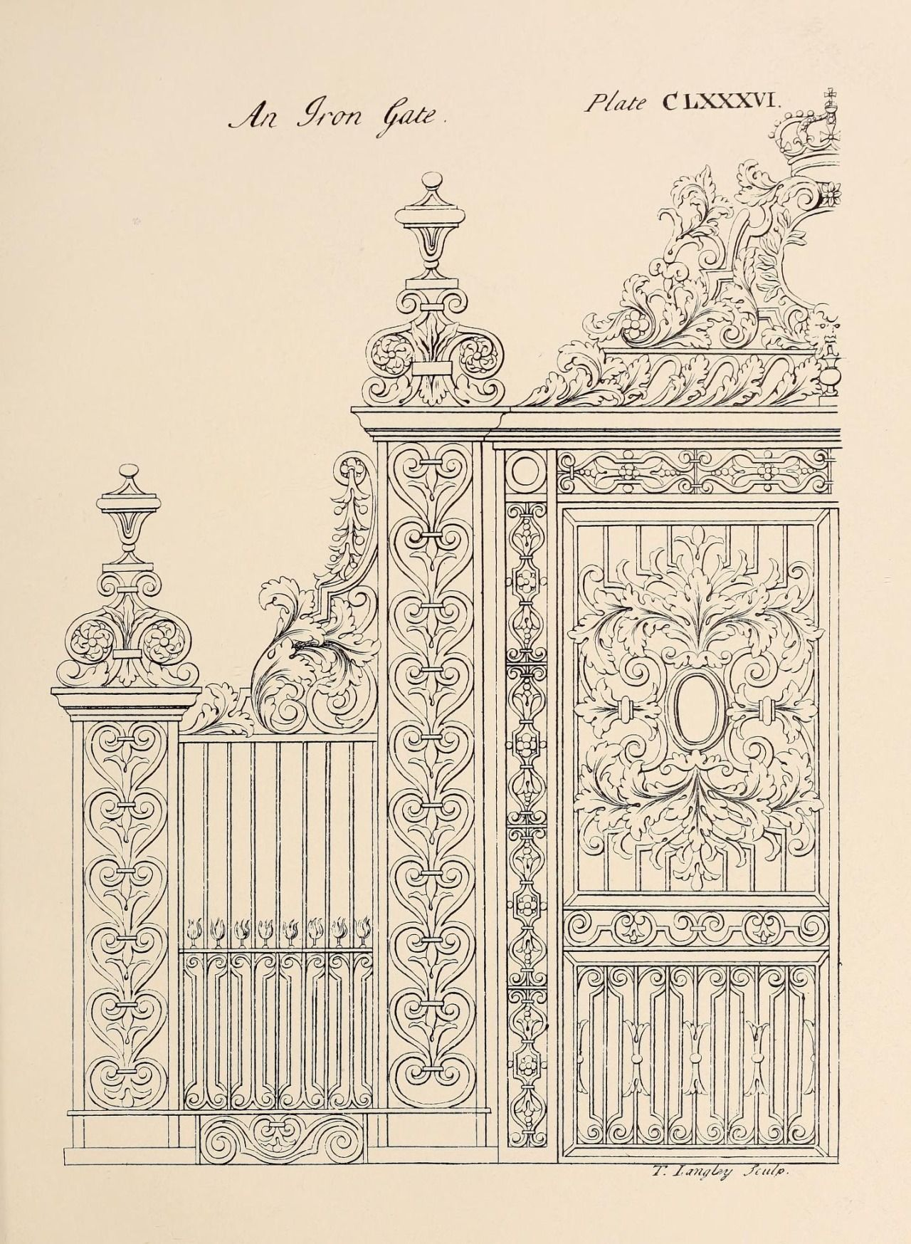 Interior Design Hand Sketches: Design For An Iron Gate …
