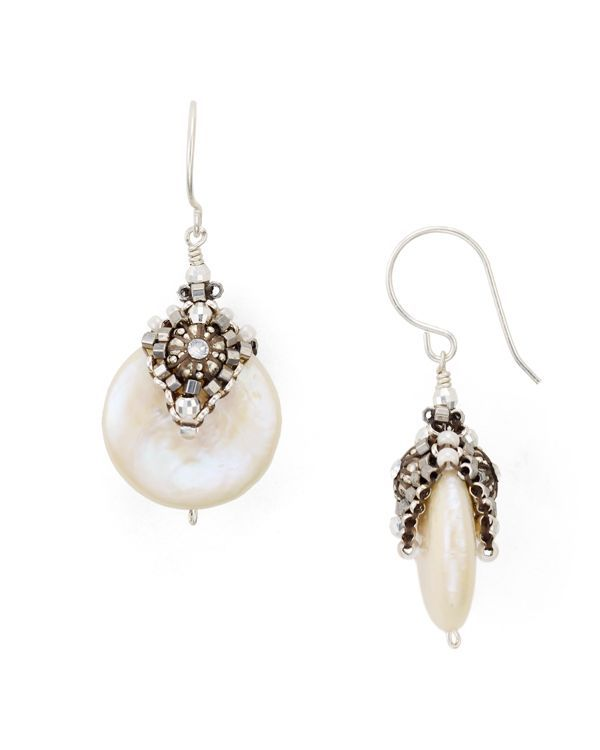 """Miguel Ases Cultured Freshwater Pearl Drop Earrings 