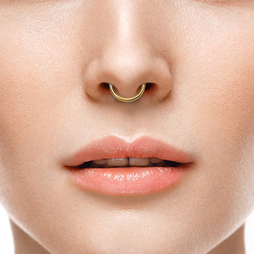 Faux Gold Septum Ring Tribal Art Fan Faux Septum Piercing Gold Toned Nose Rings Hoop Faux Septum Piercing Faux Septum