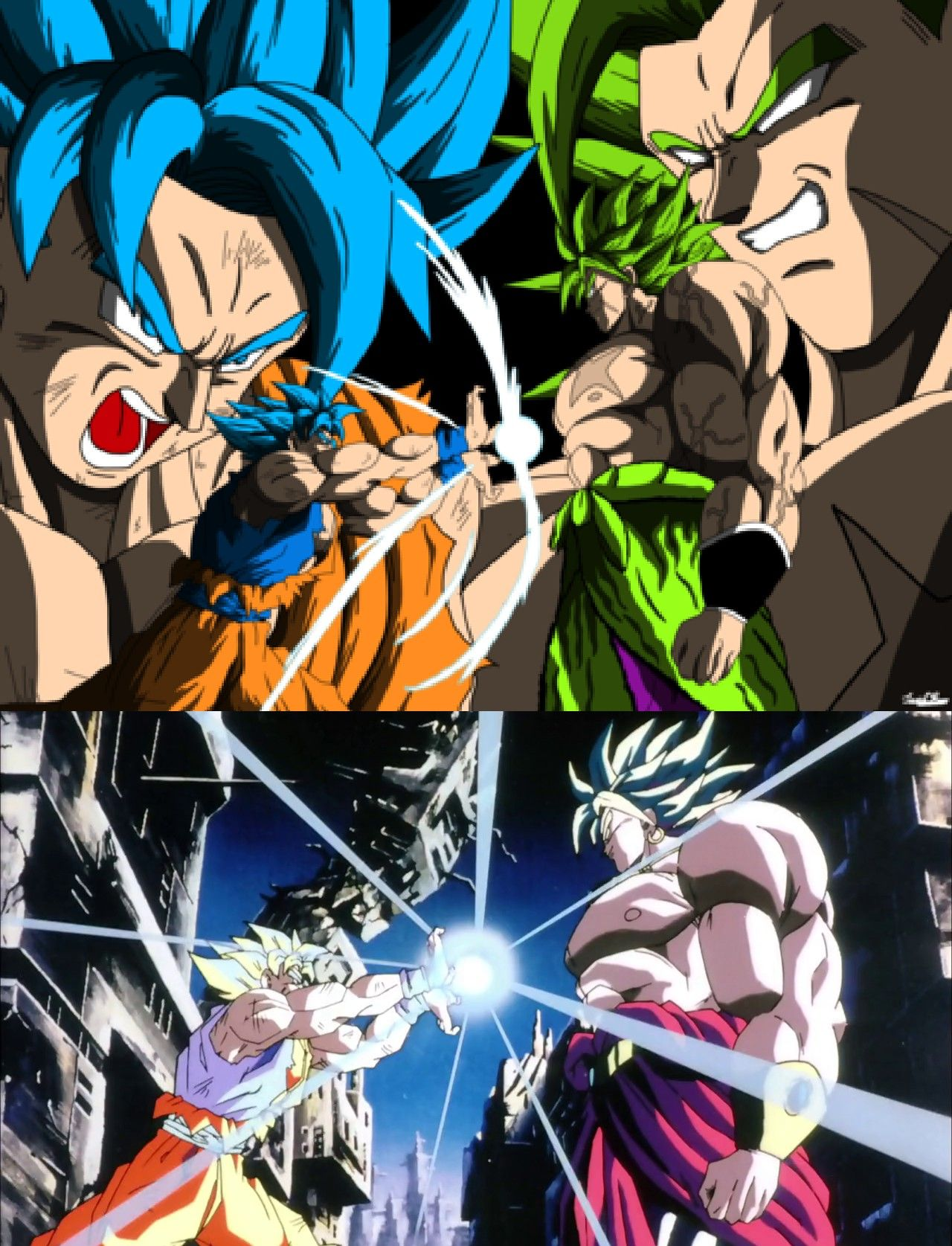 Goku Vs Broly 1993 2018 Fanart Dragon Ball Super Wallpapers