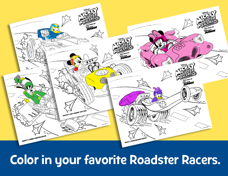 Print Out All Your Favorite Mickey And The Roadster Racers Cars