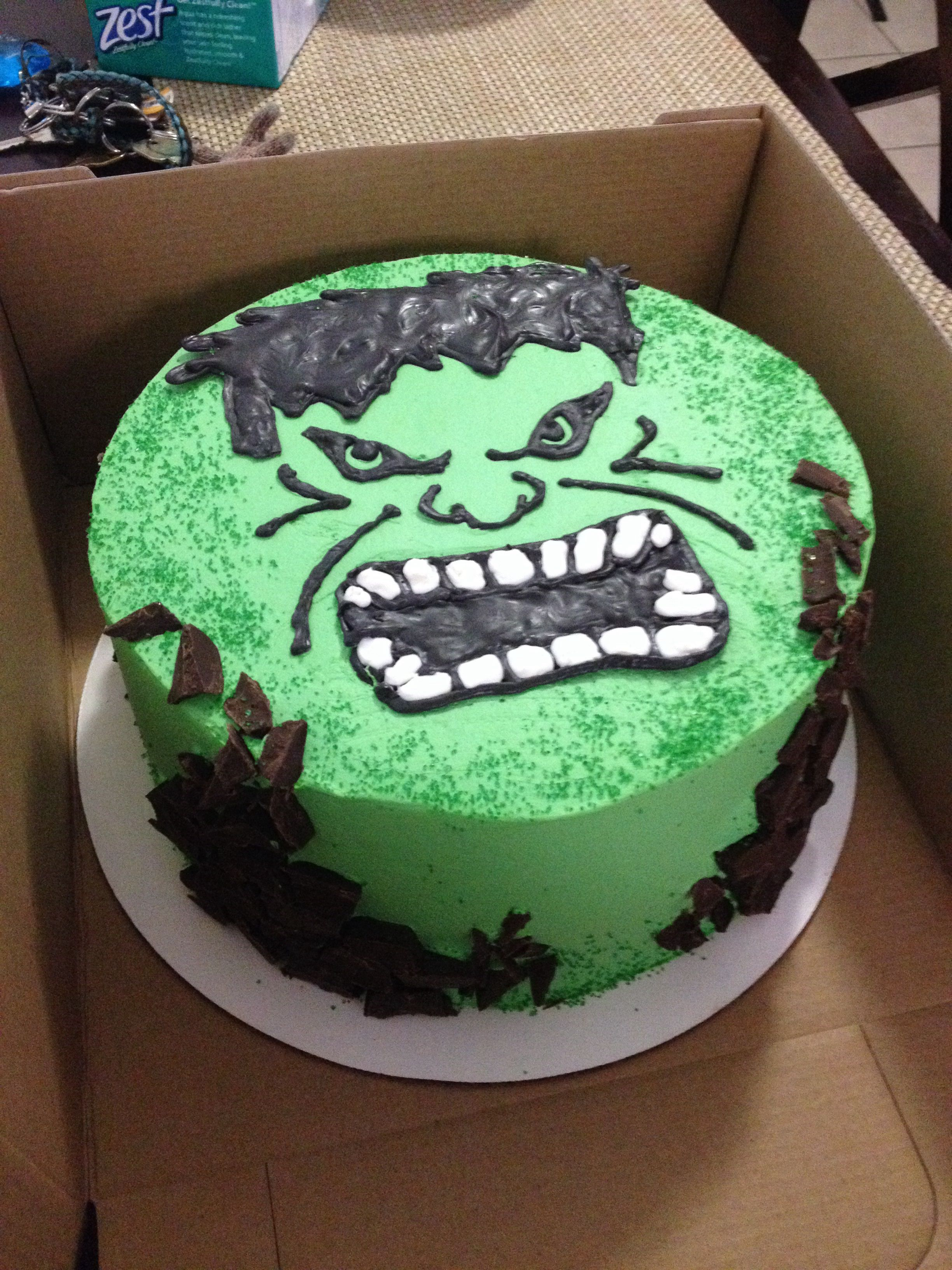 8 in Hulk Cake Pinteres