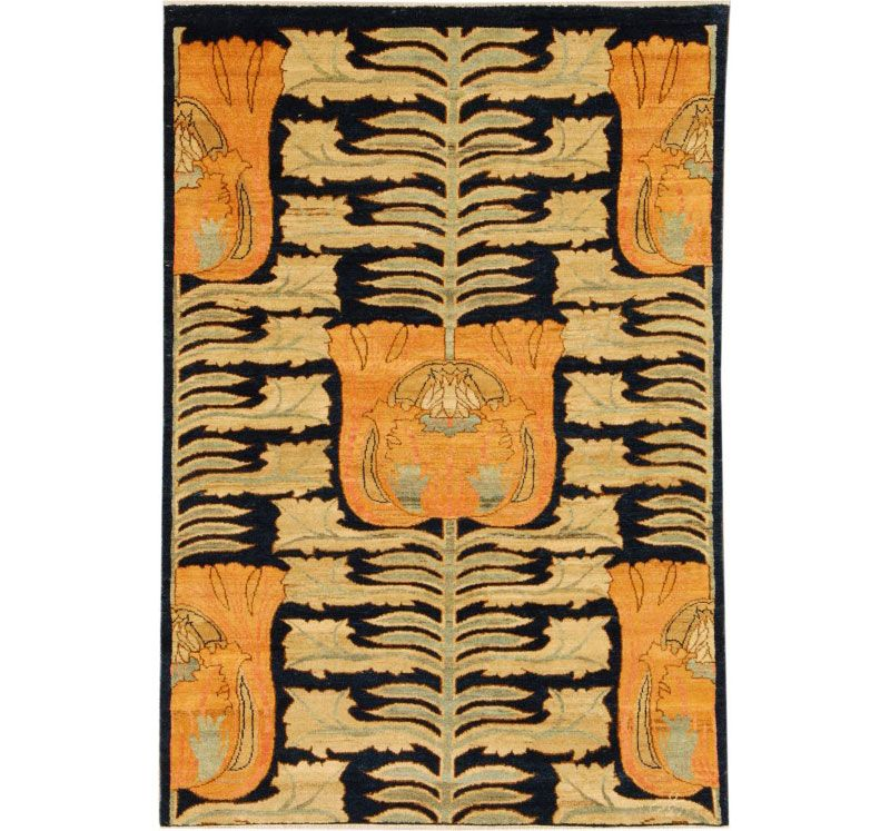 Orley Shabahang Arts & Crafts Collection, Design #F291-3909. 4x6. More color options available. Wool.