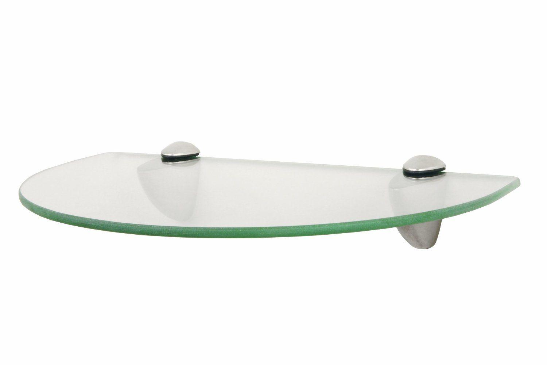 Amazon.com: John Sterling KT-0134-812SN Curved Glass Shelf Kit ...