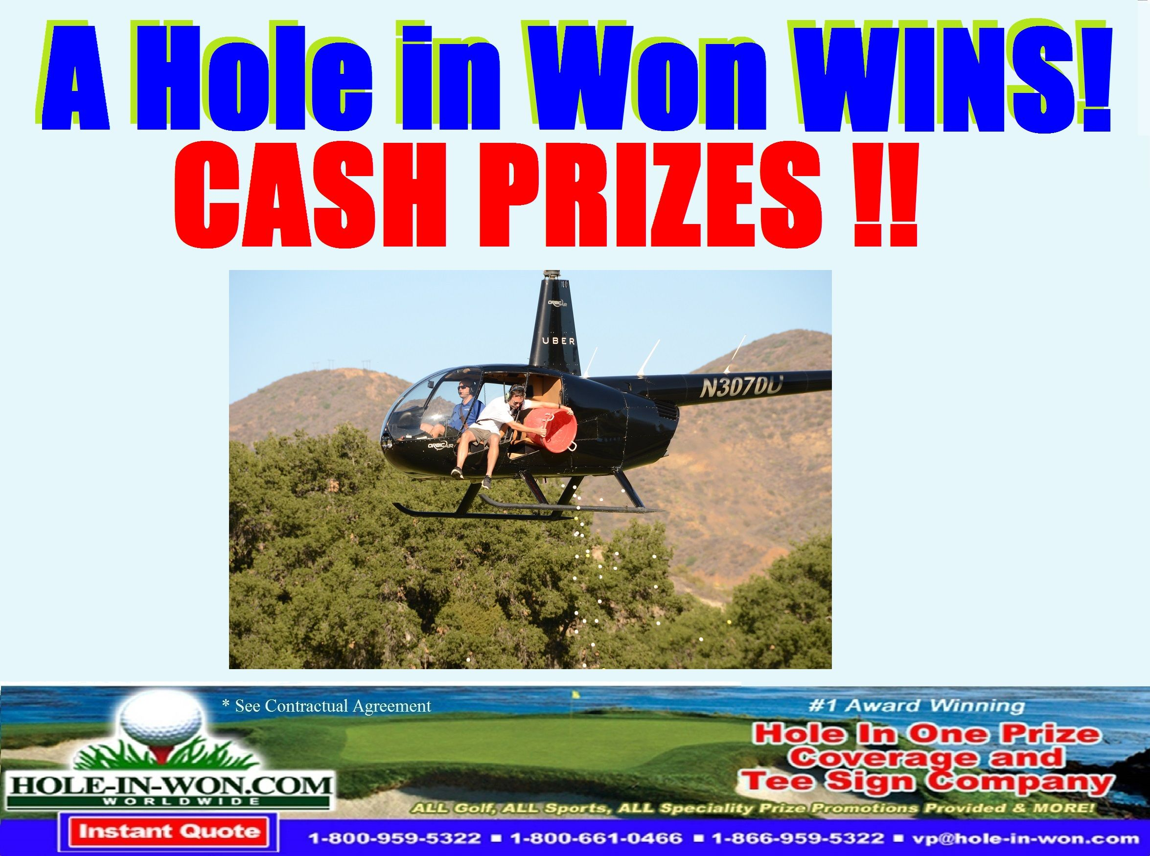 Large Prize Insurance For A Helicopter Golf Ball Drop Raise More