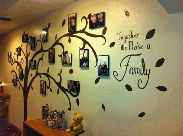 Arboles familiares decorados con fotografias arbol Pinterest