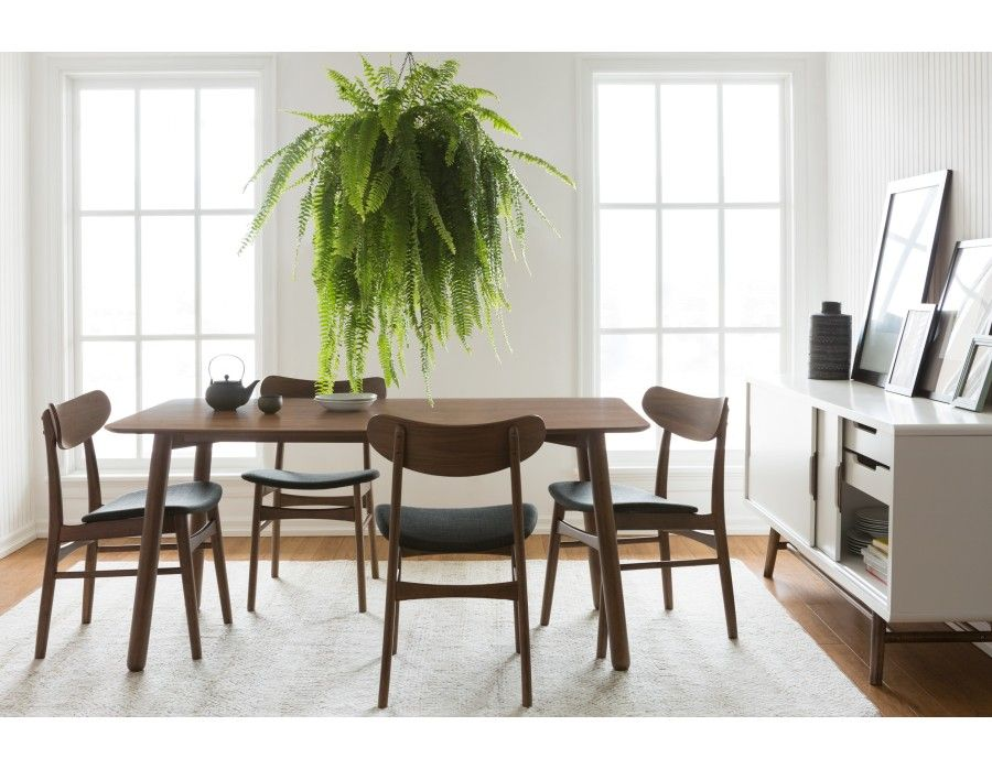 THAO This Gorgeous Table Is The Perfect Addition To Any Stylish Dining Room.  With Its Smooth Solid Wood Surface And Rounded Legs With Beautiful Walnut  ...