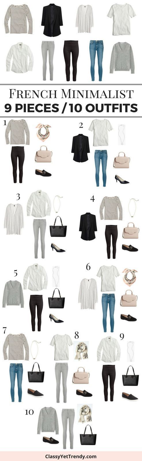 9 Pieces / 10 Outfits (French Minimalist Style) – Classy Yet Trendy