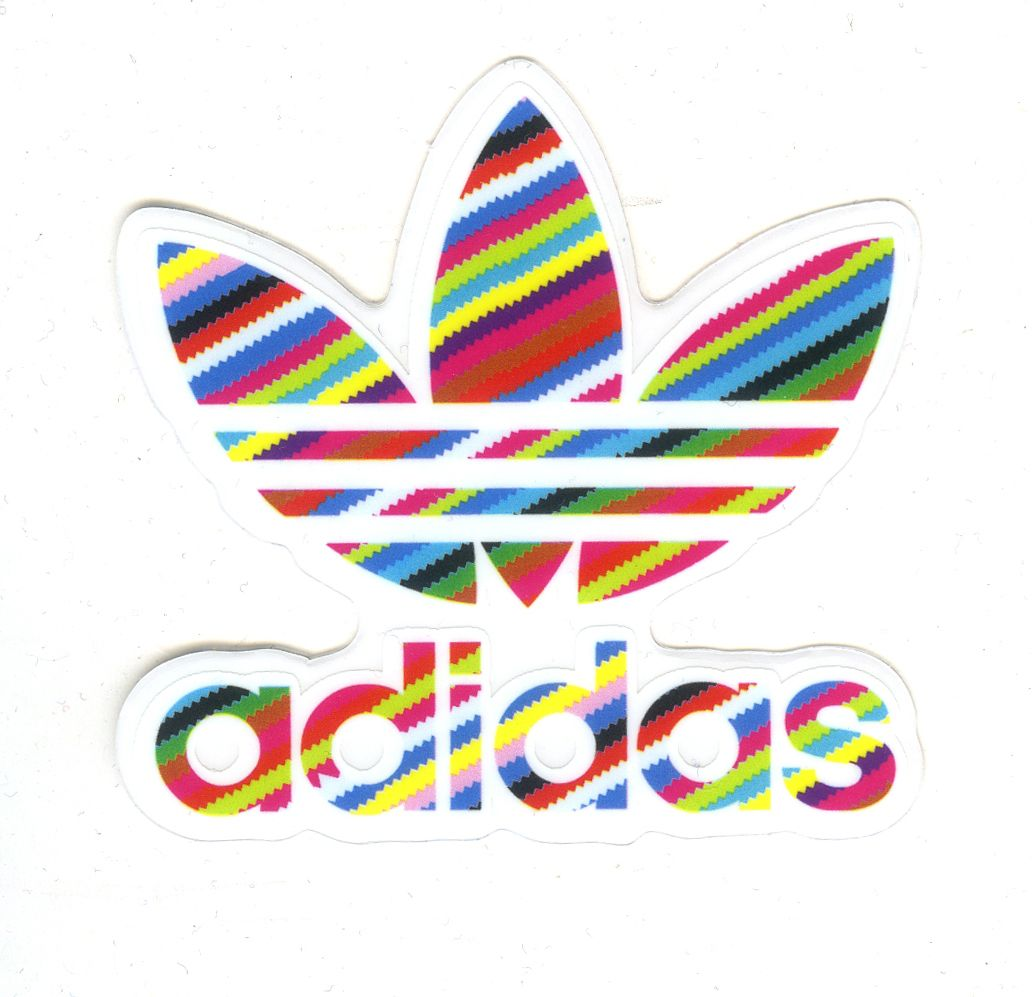 Adidas Originals Aufkleber Sticker Logo Blau