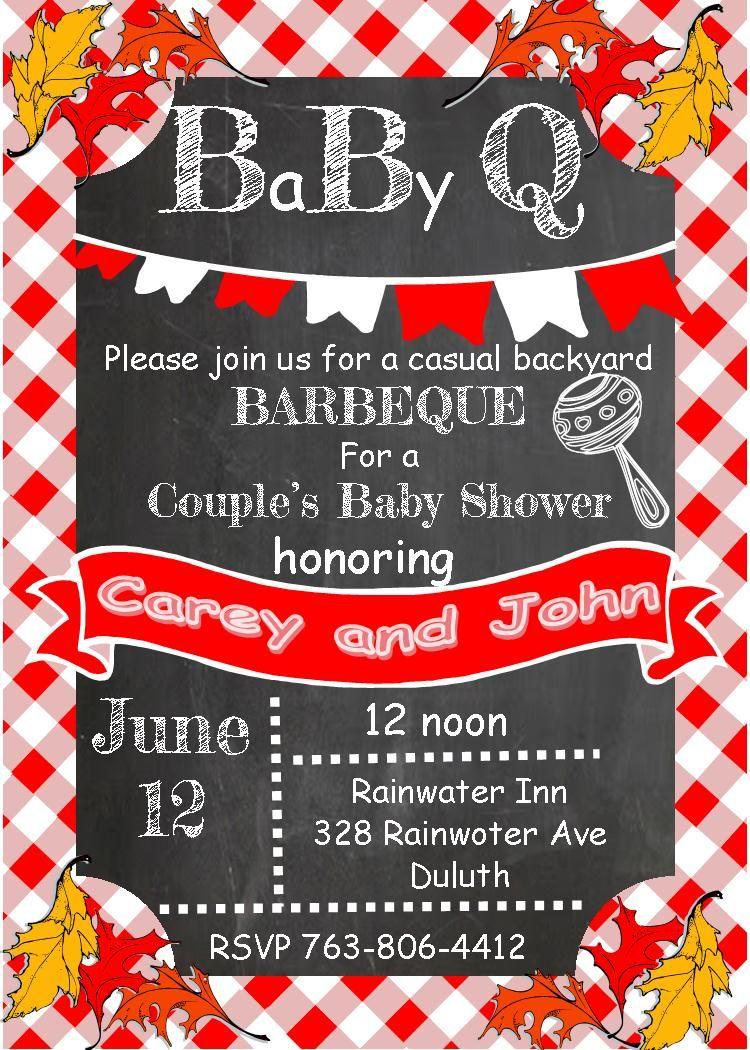 BaByQ Baby Shower invitations fall leaves   Baby Shower Invitations ...