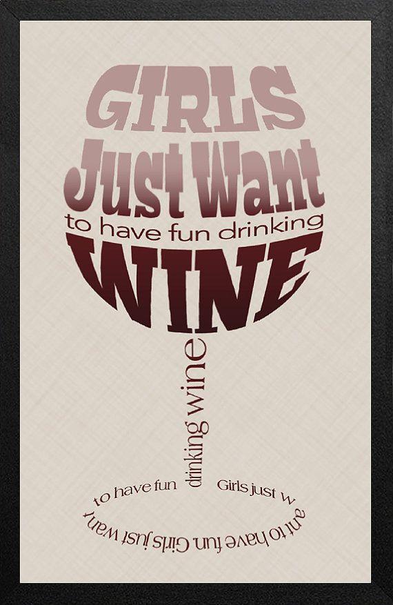Word Art Typography Poster Custom Wine Quote by amjdesignhaus, $18.00
