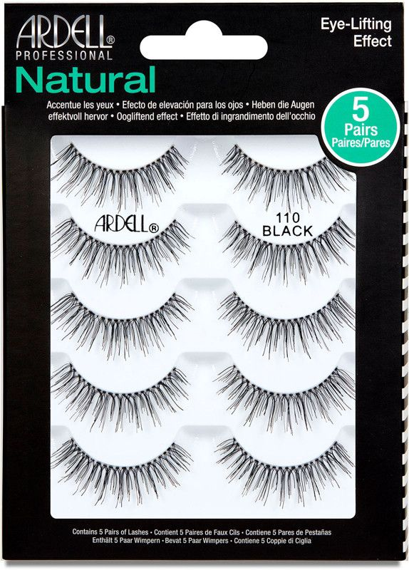 491a1782e2a Ardell's Natural Multipack 110 eye lashes contain four pair of lashes that  will enhance your gorgeous eyes even more.