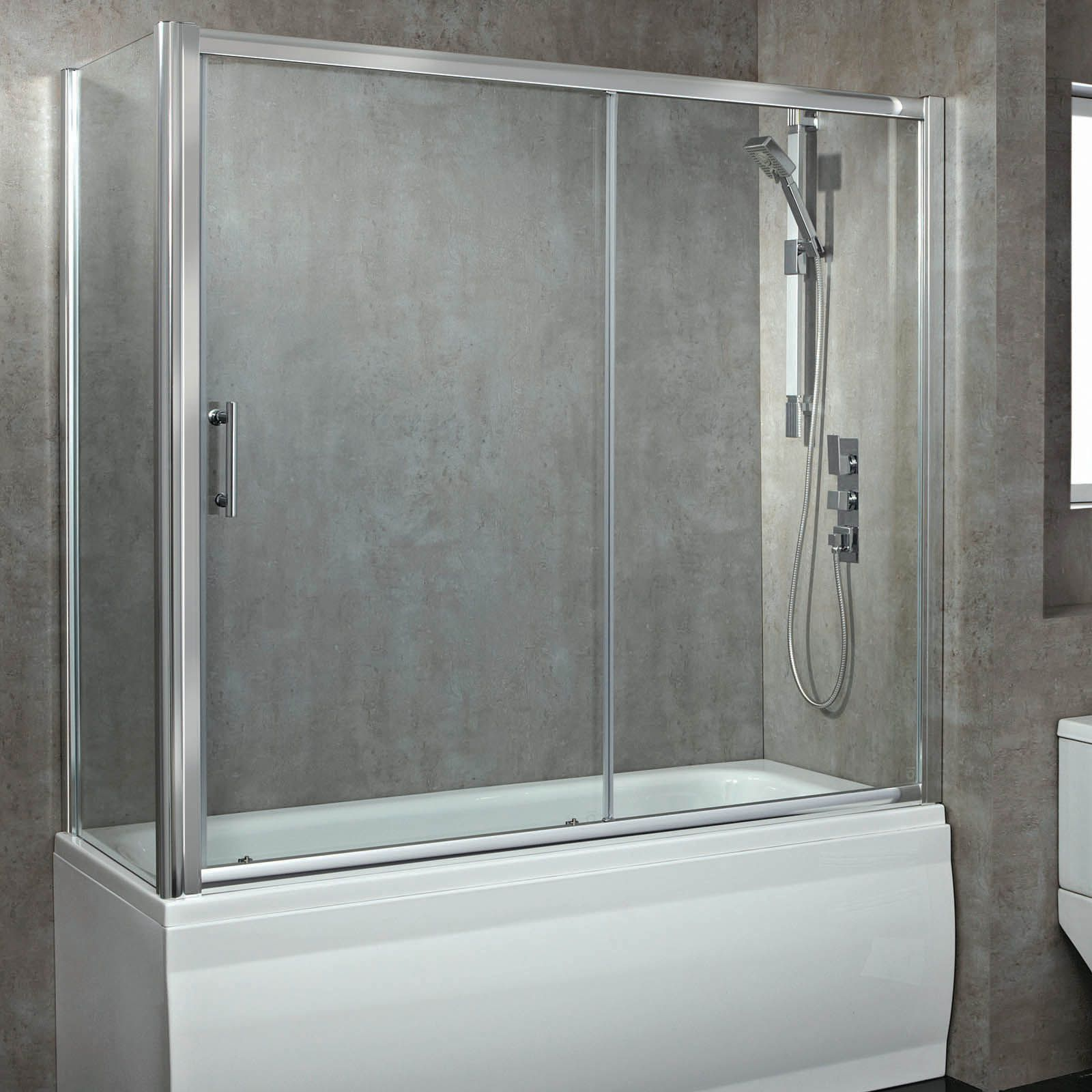 Phoenix Glass Sliding Over Bath Enclosed Shower Screen Bathtub Doors Decor Ideasdecor Ideas