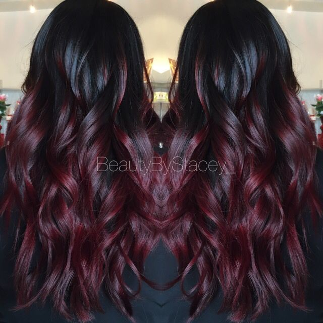 Red Ombre Look At These Gorgeous Waves Looking For Affordable Hair Extensions To Refresh Your Hair Look Inst Hair Color Burgundy Hair Styles Burgundy Hair