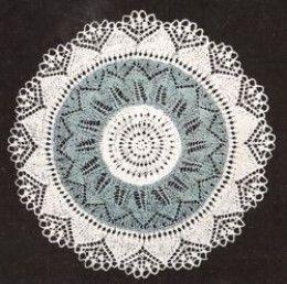 Knitted Lace Doily Pattern | Doily patterns, Vintage ...