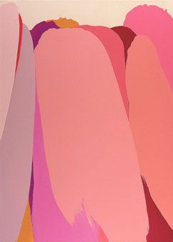 pink abstract art by William Engel.