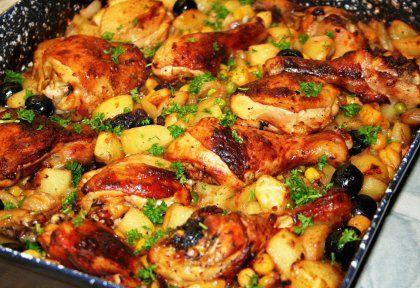 Tepsis csirkecomb zöldségekkel | NOSALTY – receptek képekkel