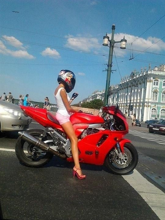 Sexy Girl and motorbike