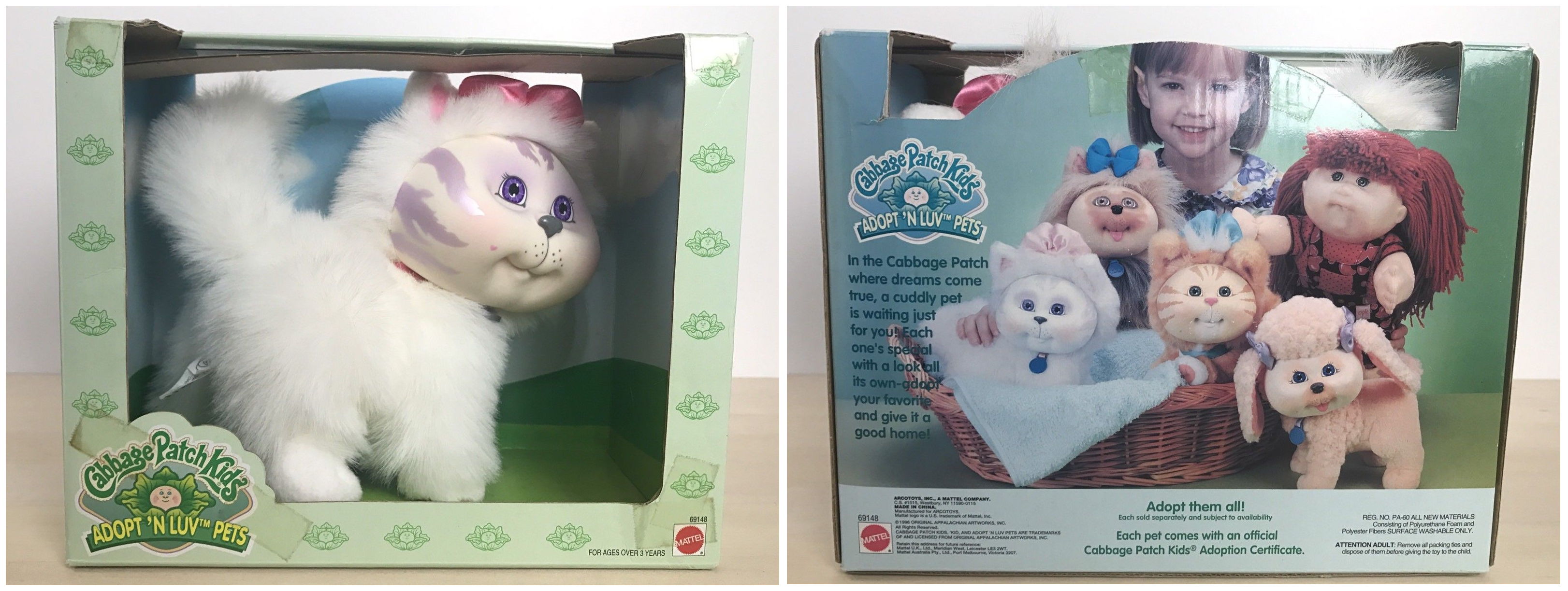 Cabbage Patch Kids Adopt N Luv Pets Cat Kitty Kitten