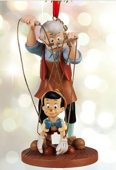 *GEPETTO & PINOCCHIO ~ Pinocchio Gepetto Wooden Boy Disney Sketchbook Ornament NWT
