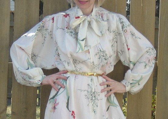 Einheitsgröße / 40er Jahre-Stil DIOR robe von SplendoreBoutique