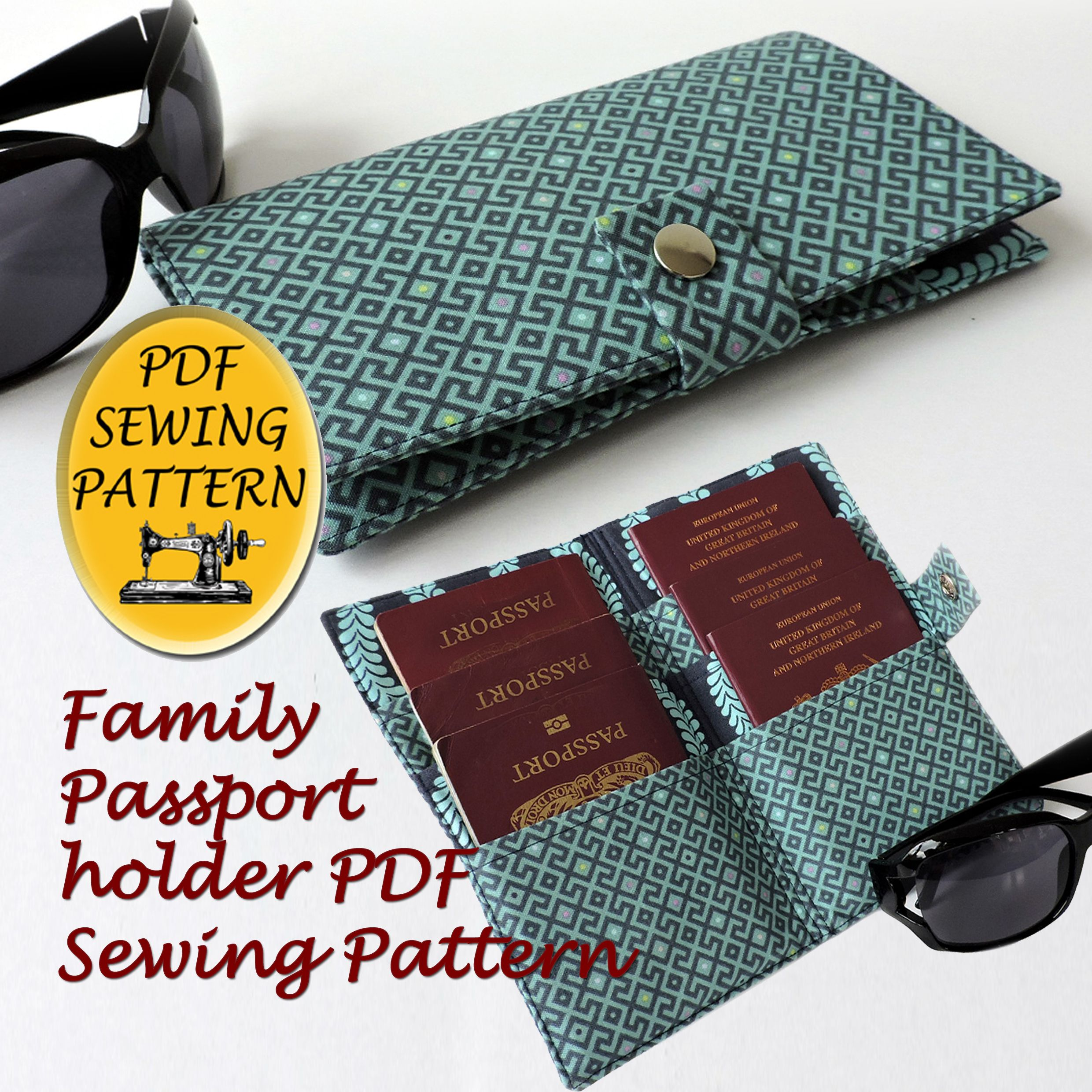 Pdf Sewing Pattern For A Family Passport Holder Holds Up To 6