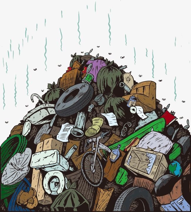 Photo of Vector Cartoon Illustration Of Garbage, Cartoon Vector, Garbage Illustration, Rubbish PNG and Vector with Transparent Background for Free Download