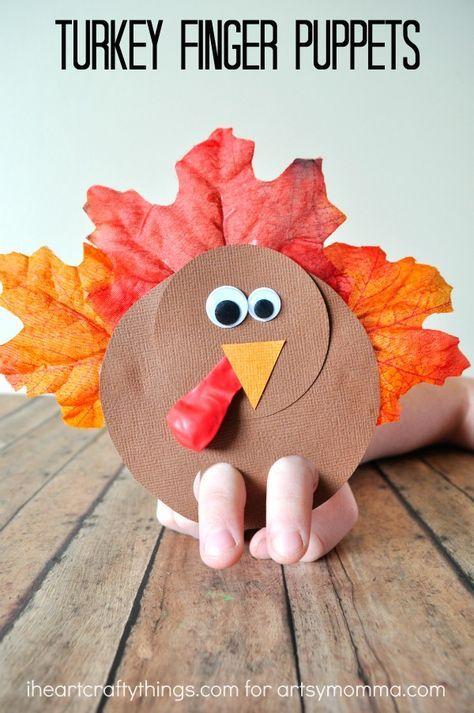 Gobbly Fun Turkey Finger Puppets