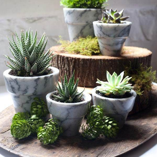 10 Modern Planters That Welcome The Spring In Style Planter Arrangements Plants Planters