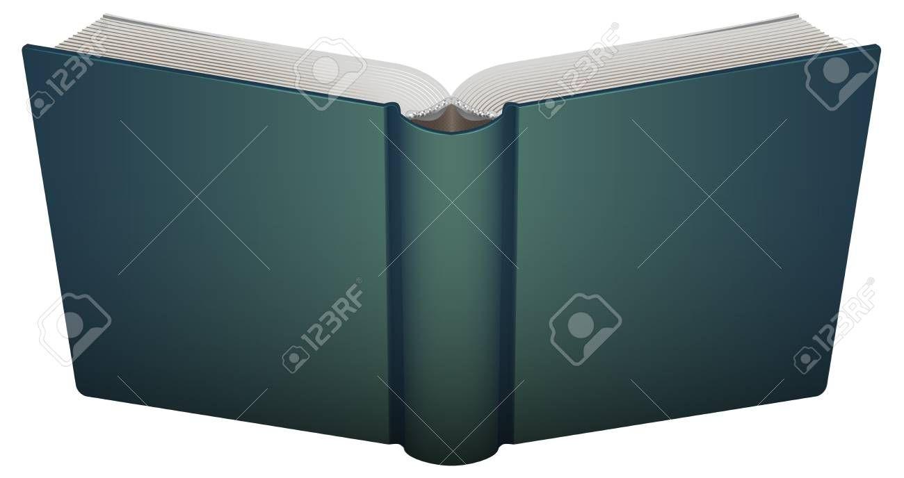 Portada Libro Abierto Aislado En La Ilustracion Del Vector Blanco Libro Abierto Portadas Vector