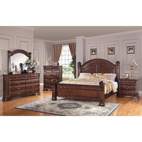 Isabella Dark Pine Piece King Bedroom Set Utah House