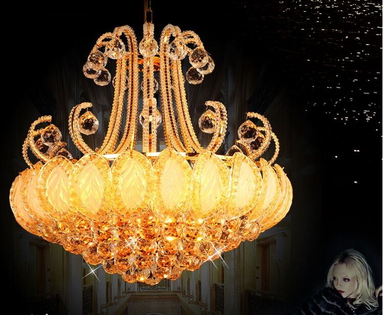 329.99$  Watch now - http://ali1wl.worldwells.pw/go.php?t=32580026479 - 60CM LED European style crystal droplight contracted bedroom chandelier crystal lamp 30-41W size:60*60cm 329.99$