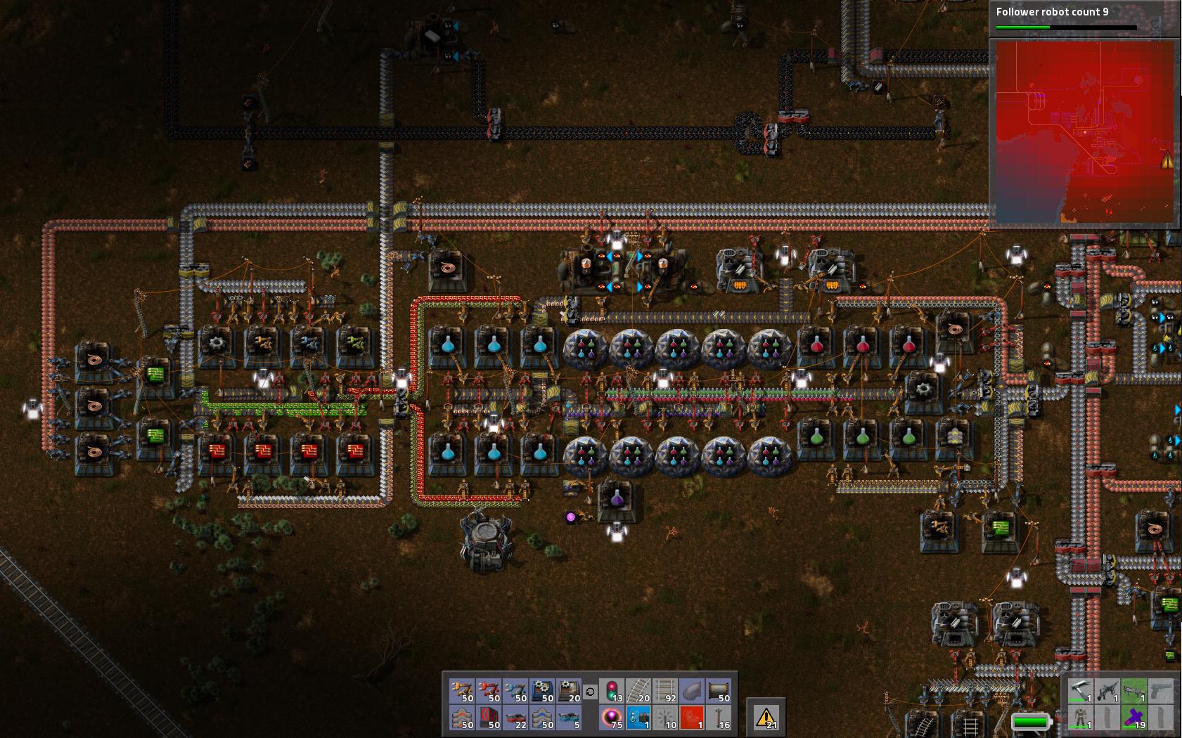 Compact Blue Science Factorio
