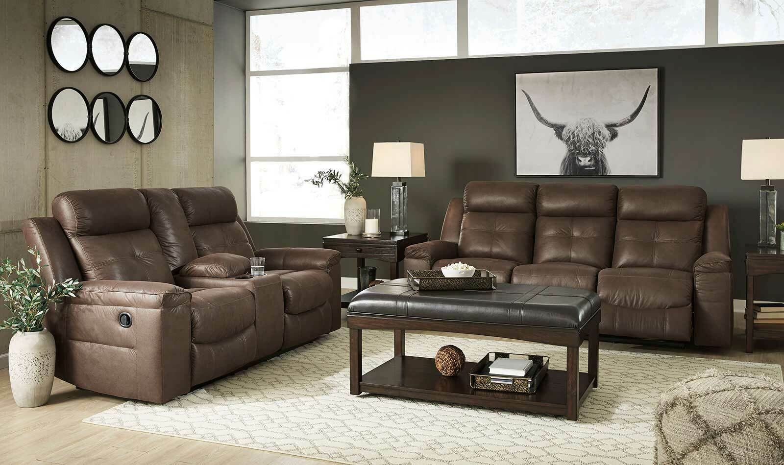 Modern Living Room Furniture Brown Fabric Reclining 2 Piece Sofa Couch Set If02 Sofas Li In 2020 Modern Furniture Living Room Living Room Sofa Living Room Furniture