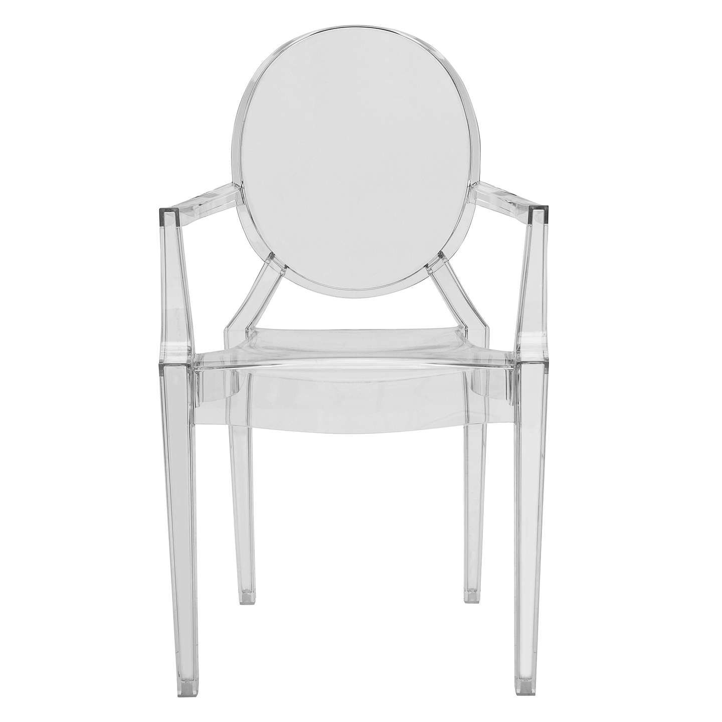 Philippe Starck for Kartell Louis Ghost Chair, Crystal