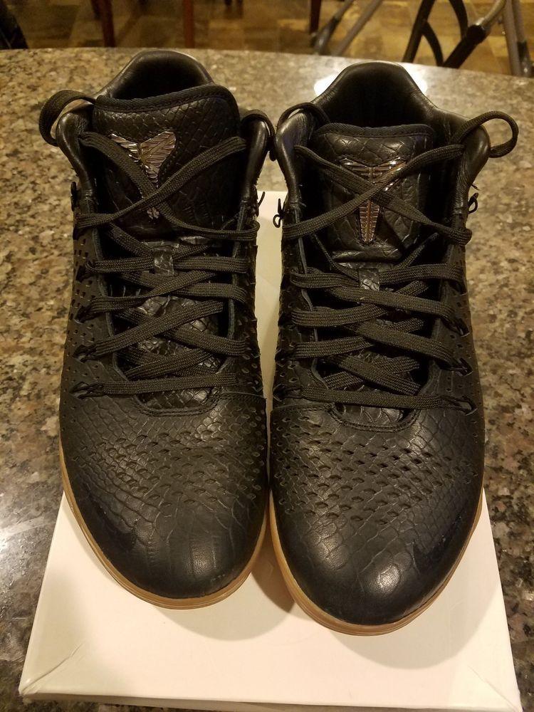 f2dbc1a38368a Nike Kobe 9 Mid Ext Qs Snakeskin Black Gum Men's Size 11 12 DS ...