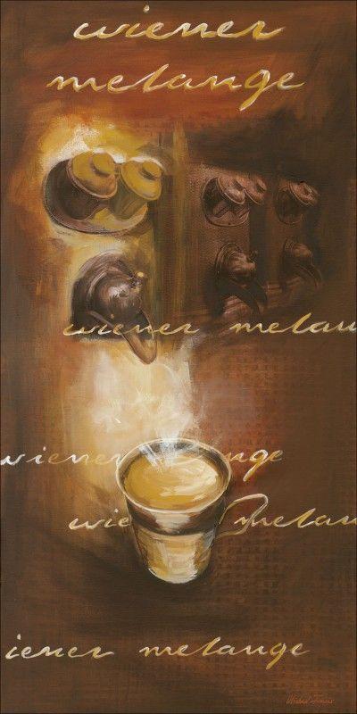 Michael Francis: Wiener Melange - Kaffee, Produkt:Leinwand; Größe (HxB):150x75 cm / Leinwand