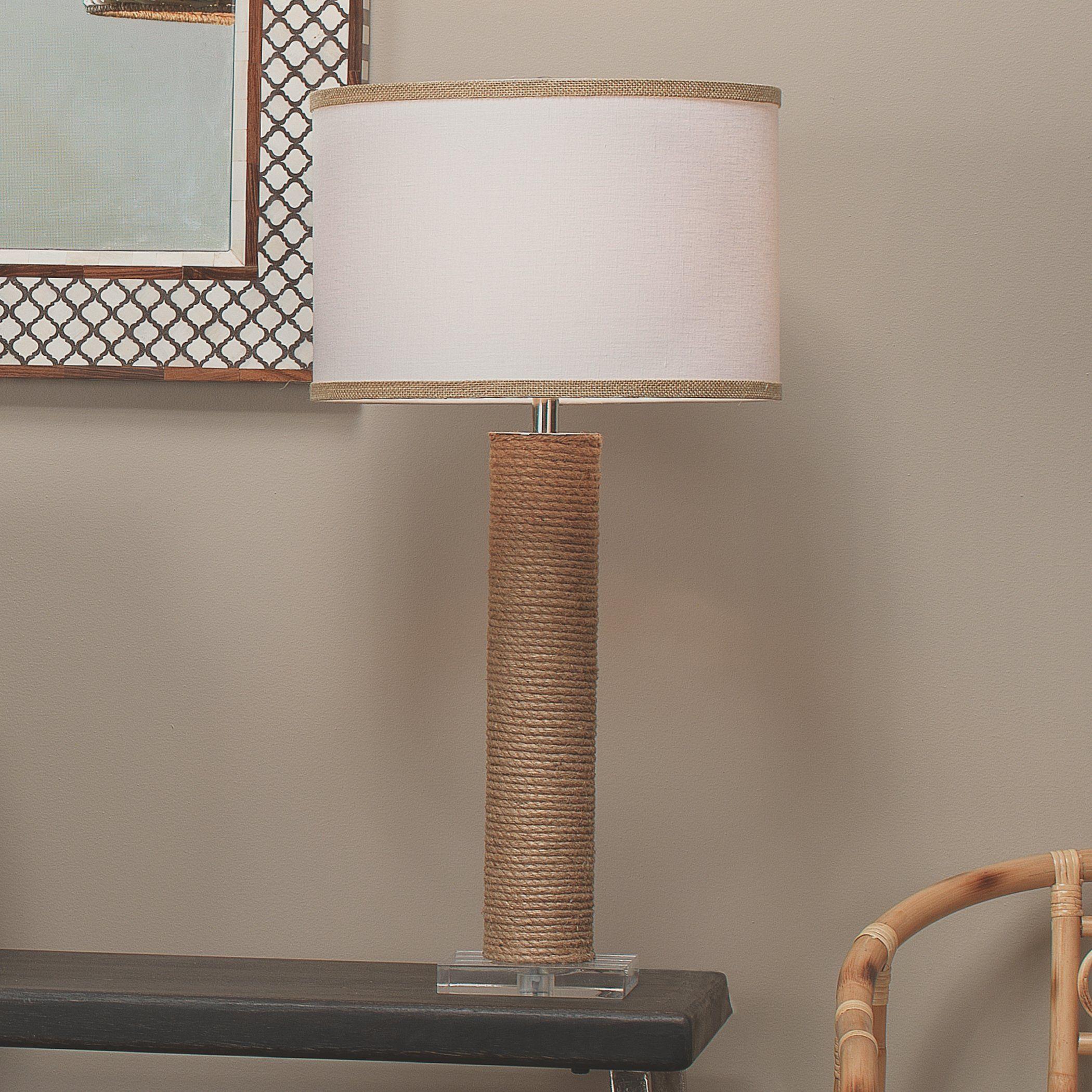 Photo of Cylinder Jute Floor Lamp in Rope