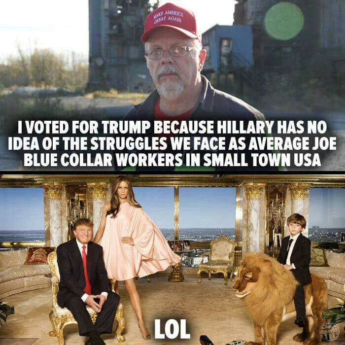 Image result for trump and a blue collar worker