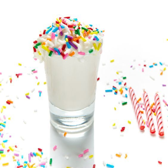 Birthday Cake Shot Recipe BiteMeMore sweet Pinterest Birthday