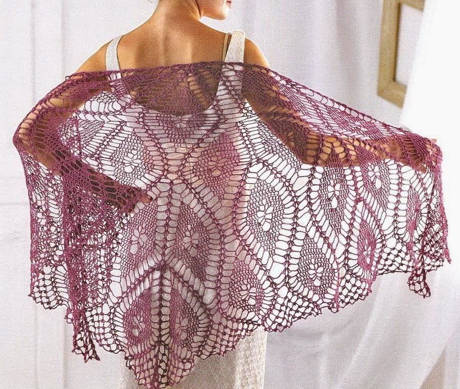 So Fine Shawl For Summer The Clear Pattern Of This Shawl Both