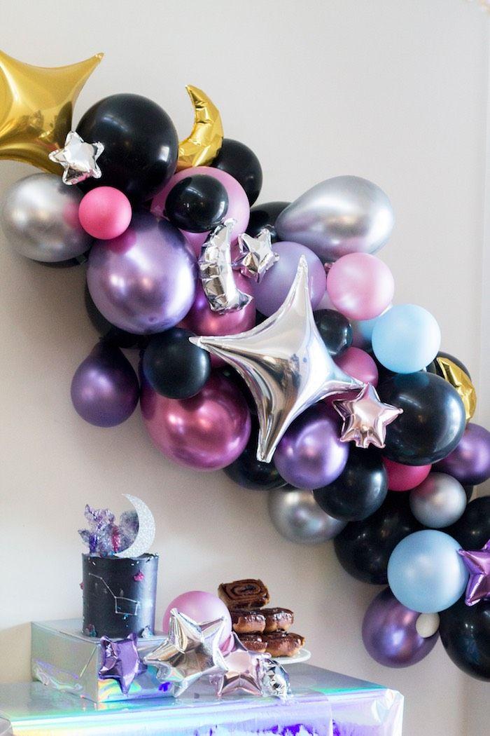 Photo of Cosmic Celestial Galaxy Birthday Party | Kara's Party Ideas