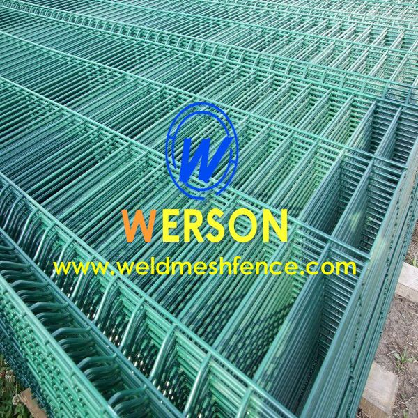 Werson offers welded mesh security fence panel in hot dipped ...