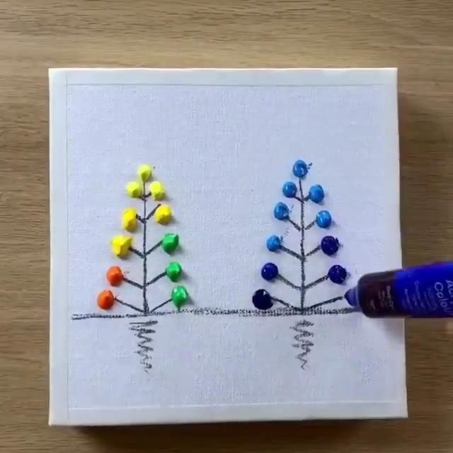 How To Paint Trees In A Landscape