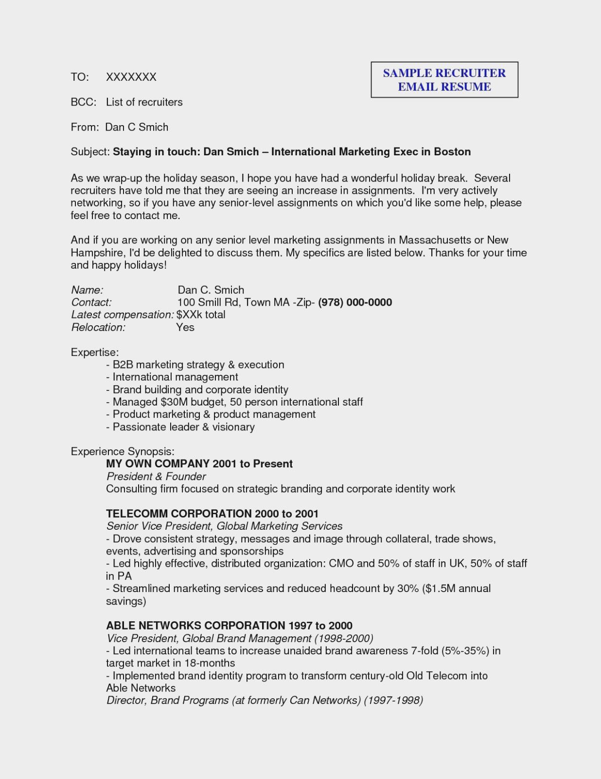 Ehrfurchtig Send Resume To Recruiter 10 Facts You Never Knew About Sending How To Send Resume For Job Resume Ideas Corpor Recruiter Resume Sample Resume Resume