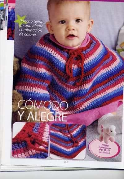 patrones de ponchos para bebés/niños (solicitado por abbejita ...